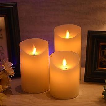 Luz LED, LED con pilas blanco cálido de velas sin llama del cielo ...