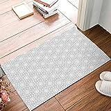 Arabian Ornament Gray White Pattern Floor Mat Home Decor Carpet Indoor Rectangle Kitchen Doormat 30'' X 18''