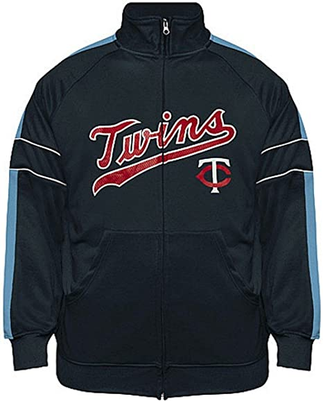 VF Minnesota Twins MLB Mens Cooperstown Majestic Field Track Jacket Navy Blue Big & Tall Sizes