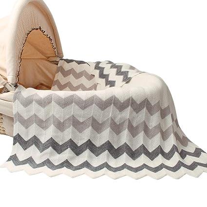 mimixiong mantas de bebé personalizado para tejer patrones Cellular mantas para bebé cochecito Grey-2