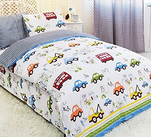 Fadfay Home Textile Cars Bedding Queen Size Train Bedding