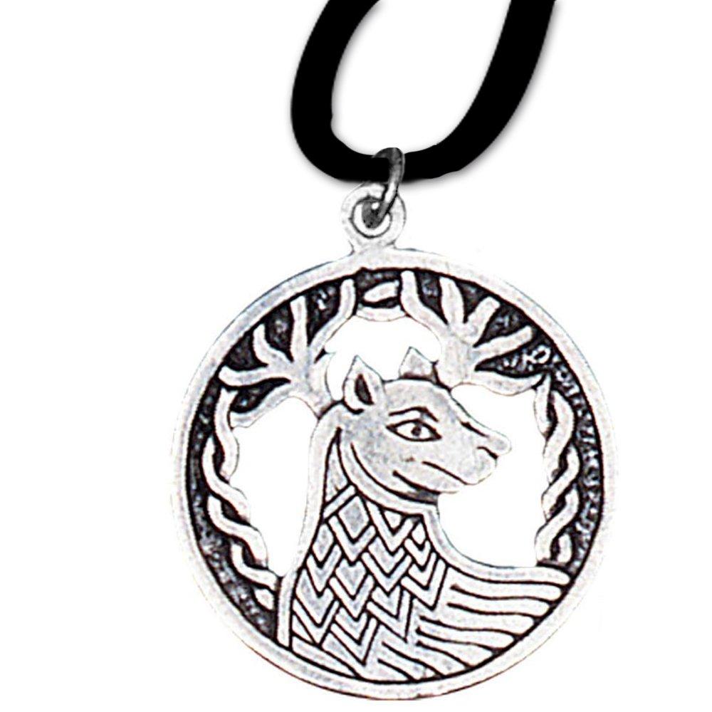 Alban Elfeld Anhänger Keltisches Sternzeichen (9. Sep - 1. Okt) 925er Silber Schmuck Amulett Durchhaltevermögen mit Lederhalsband 12 DarkDragon 6615547878473-BC12