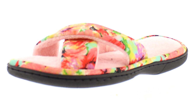 Ramira Memory Foam Flip Flop Slippers for Women Open Toe House Shoes Bed Slipper