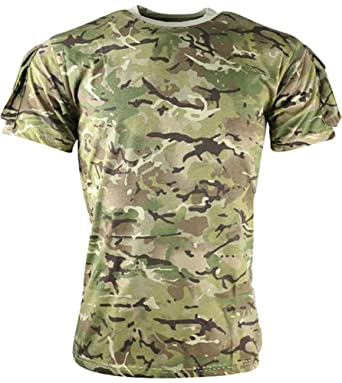 dc918bb9 Mens Army Combat Tactical Training T-Shirt with Pocket BTP All Terrain Camo:  Amazon.co.uk: Clothing
