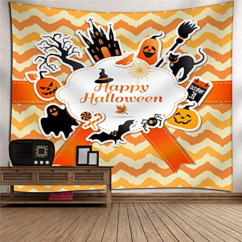 (Halloween Pumpkin Tapestry Mural Hanging Cloth TV Background Wall 3D Digital Printing Polyester Art Wall Decoration Home Bedroom Living Room Tapestry Wall Mount Picnic Blanket)