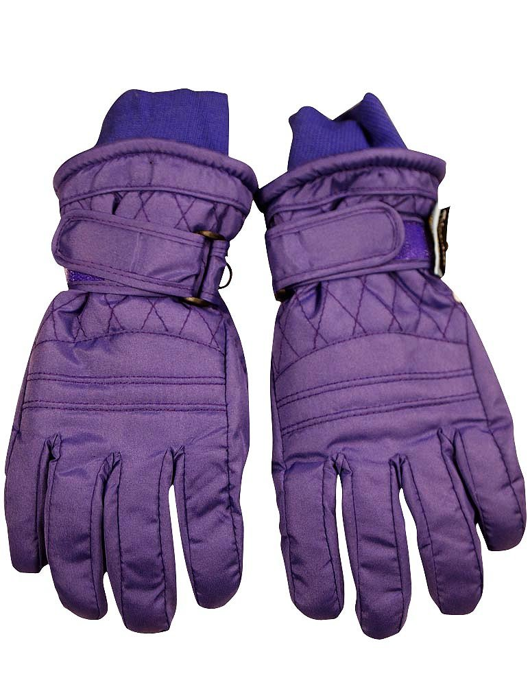 Winter Warm-Up - Ladies Ski Gloves, Purple 36751-Large by WINTER WARM-UP (Image #1)