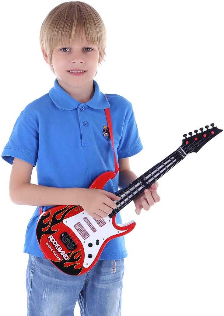 OVERWELL Guitare Enfant, 4 Cordes Guitare Electrique Enfant