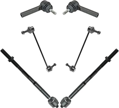 SCITOO 6X Sway Bar Links Outer Inner Tie Rod Ends fit 2009-2012 Dodge Journey