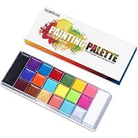 VERONNI 20 Color Professional Face Body Paint Oil Palette - Large Pan Black & White,Non Toxic SFX Makeup,Hypoallergenic…