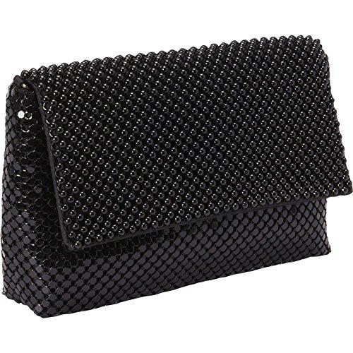 magid-ball-mesh-flap-shoulder-bag-black