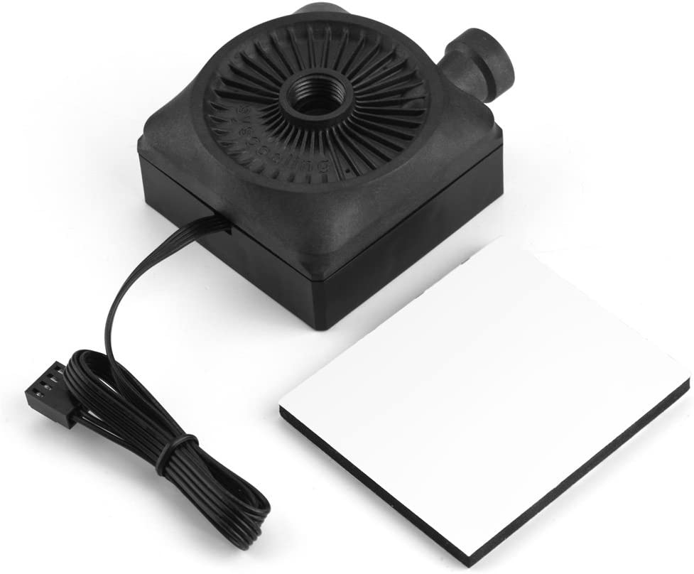 Richer-R Water Cooling Pump DC 12V Ultra-quiet CPU Pump with Ultra Low Vibration and Noise Easy to Connect the Heat Pipe for Computer Water Cooling System 500L//h G1//4 Thread