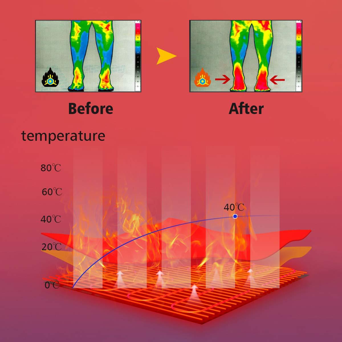 Calentadores de Pies Calcetines Magneticos de turmalina Aooeou Calcetines Termicos Calcetines magn/éticos de autocalentamiento
