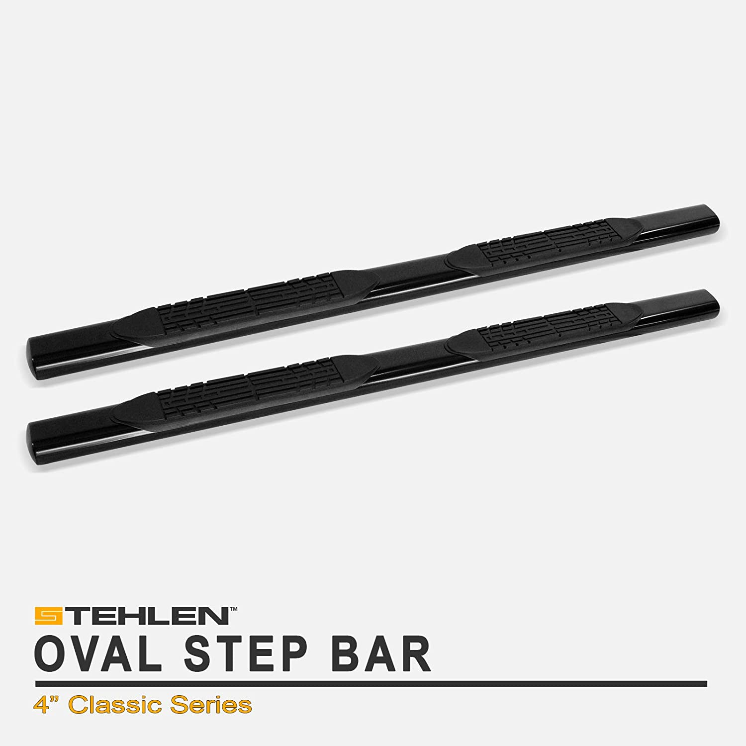 Black For 2005-2019 Toyota Tacoma Double Cab Stehlen 733469496595 4 Oval Side Step Nerf Bars Crew