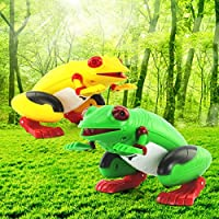 New 1 Pcs Infrared Remote Control Simulation Frog RC Animal Toy 9984 By KTOY