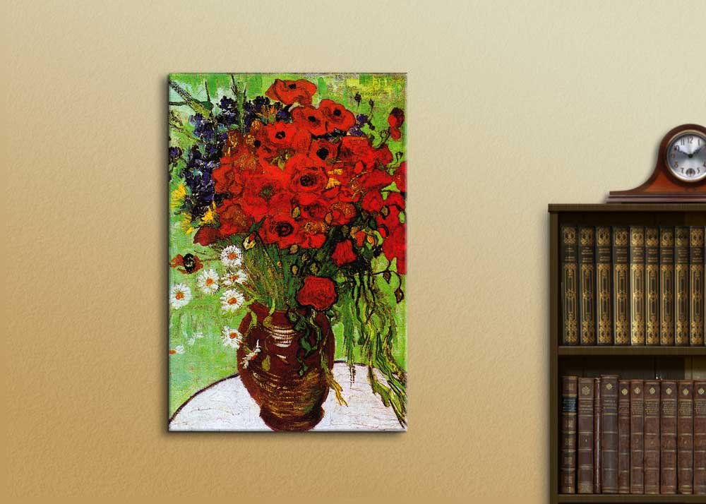 Canvas Art Wall Decor Starry Night by Vincent Van Gogh 16x24 wall26