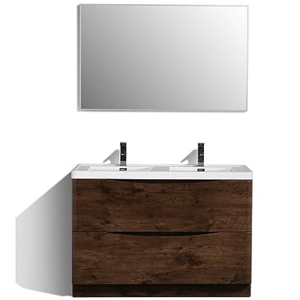 Eviva Evvn12 Ds 48rswd Fs Smile 48 Rosewood Modern Bathroom Vanity