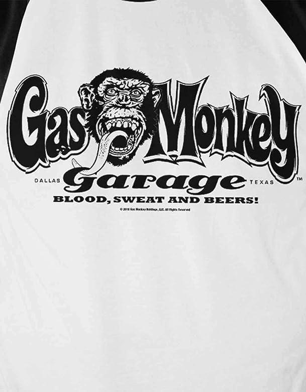 Gas Monkey Garage Camiseta de Manga Larga con Logo Oficial Blanco ...