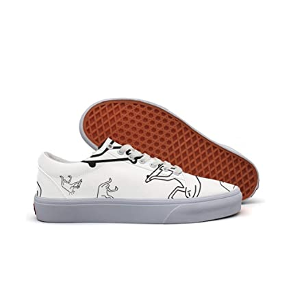 womens Skateboarding Shoes Canvas skateboarding evil silhouette Sport Sneaker