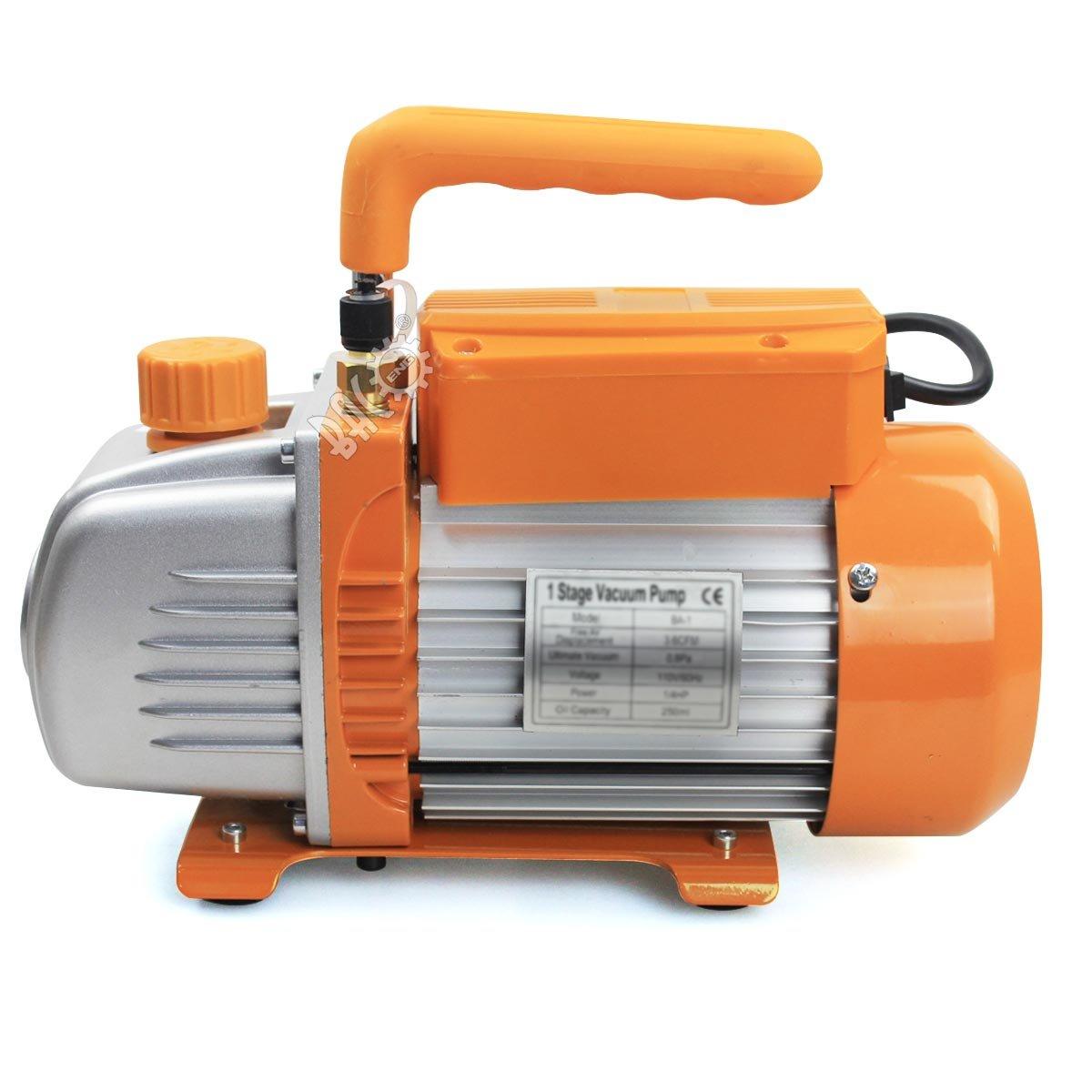 BACOENG 12L Vakuumkammer mit 85L//Min Einstufige Vakuumpumpe Unterdruckpumpe mit Manometer HVAC