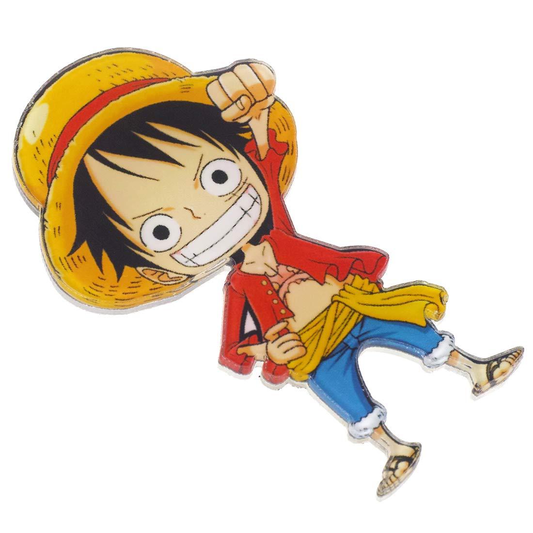 CoolChange 9 imanes con los Personajes Chibi de One Piece del Equipaje de los Sombreros de Paja
