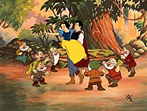 "Snow White and the Seven Dwarfs50th Anniversary Cel ""PRINCE FREES SNOW WHITE"""