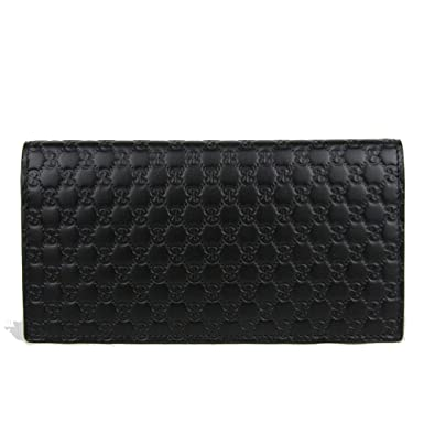 c4d30b11d02d Amazon.com: Gucci GG Guccissima Leather Long Flap Wallet 449245 ...