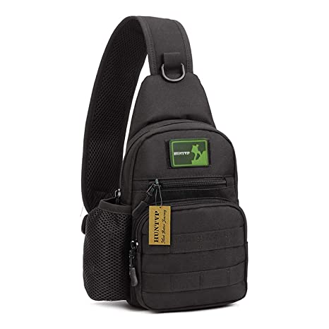 d287744ccc15 Huntvp Small Tactical Sling Chest Pack Bag Molle Daypack Backpack iPad Mini  Military Shoulder Bag Crossbody Duty Gear for Hunting Camping Trekking