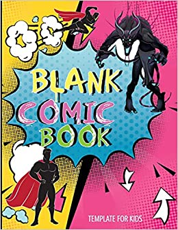 Amazon Fr Blank Comic Book Template For Kids For Drawing Your Own