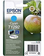 Epson Ink Cart T129 Retail Pack, Cyan, Genuine