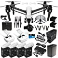 DJI Inspire 1 PRO Dual Remote Drone Quad Copter DREAM COMBO includes DJI Charging Hub, 4X TB48 battery 180W Rapid Charger Battery Heater, Surmik® Prop Guards & W/ 4K camera Gimbal carrying case