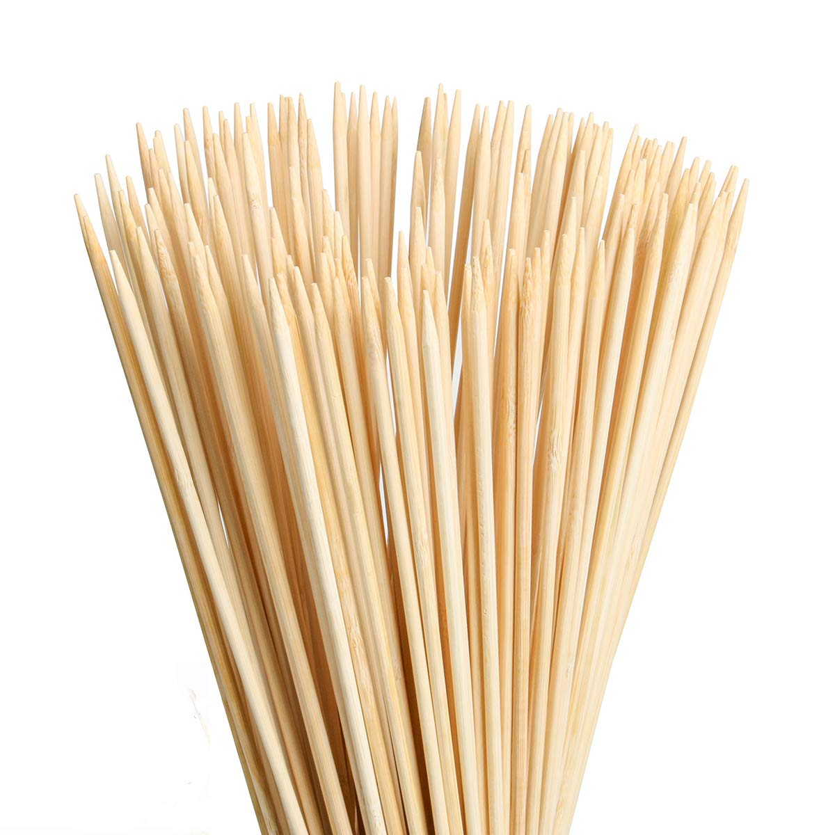 FLYPARTY Bamboo Marshmallow Roasting Sticks with 30 Inch 5mm Thick Extra Long Heavy Duty Wooden Skewers,Roaster Barbecue S'Mores Skewers Hot Dog Forks for Camping,Party,Kebab Sausage(40 Pcs) by FLYPARTY