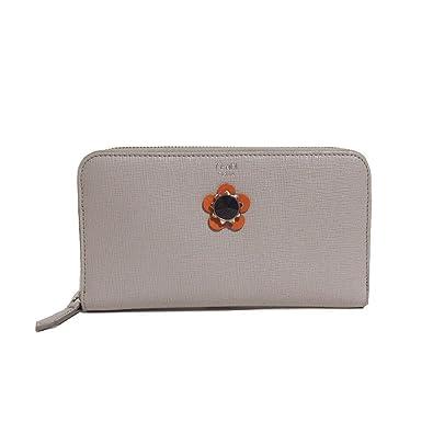 ccc1b926e565 フェンディ FENDI 財布 8M0299-9PR-F0Y9G 型押しレザー フラワー ラウンドファスナー 長財布