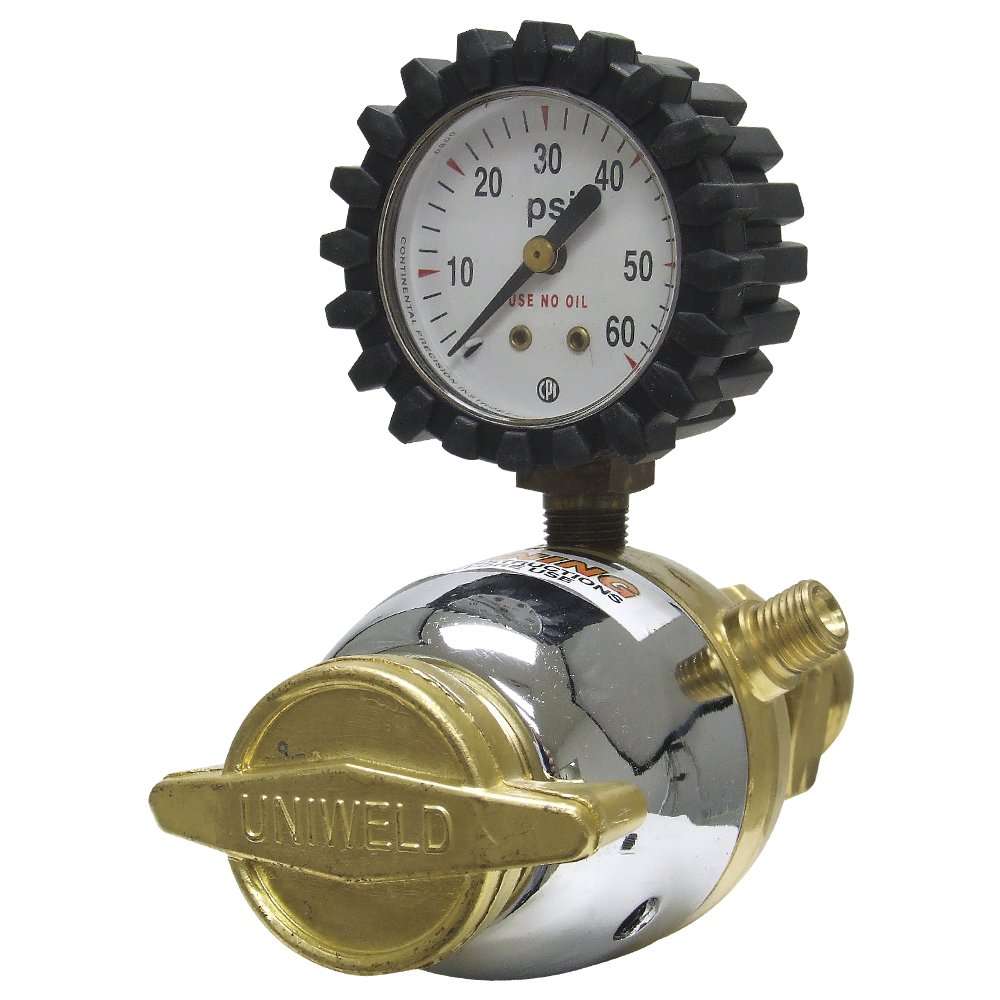Uniweld RLP Patriot Series LP Fuel Gas Regulator with 'A' Outlet Connection and 510 CGA Inlet