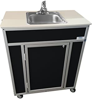 monsam ns009s nsf certified single basin self contained portable sink black