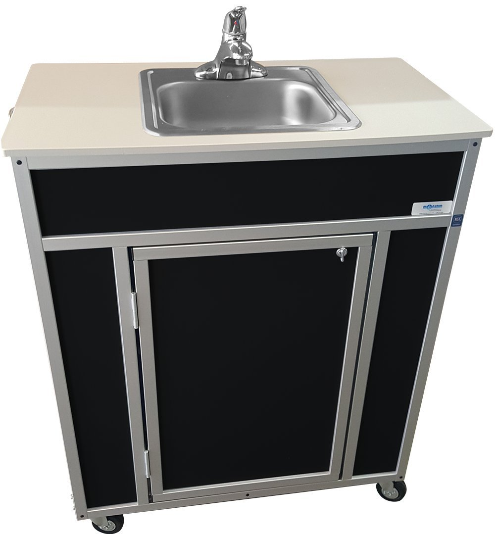 Monsam NS-009S NSF Certified Single Basin Self Contained Portable Sink, Black by Monsam Enterprises