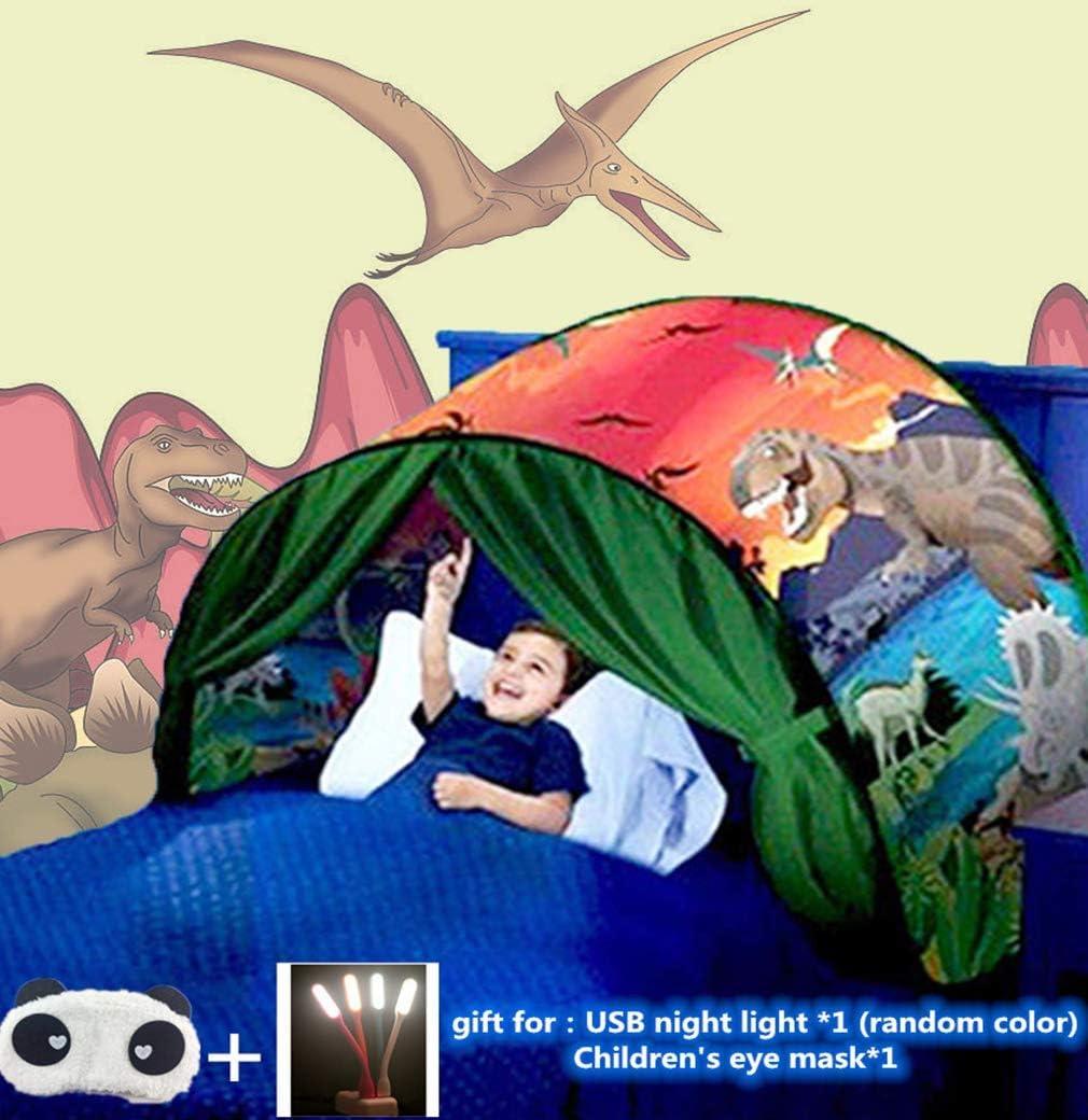 Carpa De Ensueño, Carpa Para Cama,Carpa Cojin Molon,Carpa Niños,Carpa Infantil,Carpa Para Niños,Carpa Para Niños Plegable Mágica De Invierno, Navidad Y Regalos De Cumpleaños (Parque de dinosaurios)