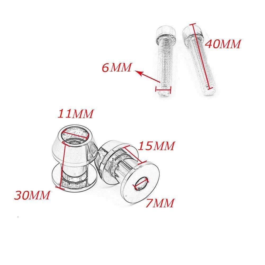 Motoparty 6mm CNC Swingarm Sliders Spools Paddock Stand Bobbins Swing Arm For Yamaha MT01 MT03 MT07 MT09 R1 R3 R6 R7 R25 R6S FJ09 FZ1 FZ6 FZ8 FZ07 FZ09 FZS600 FZS1000 Swing Arm Spools Sliders