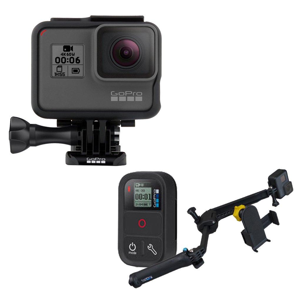 自撮りに最適なセット GoPro HERO6 BLACK本体+スマートフォンも固定できる3WAYアーム付き   B07B25T7WN