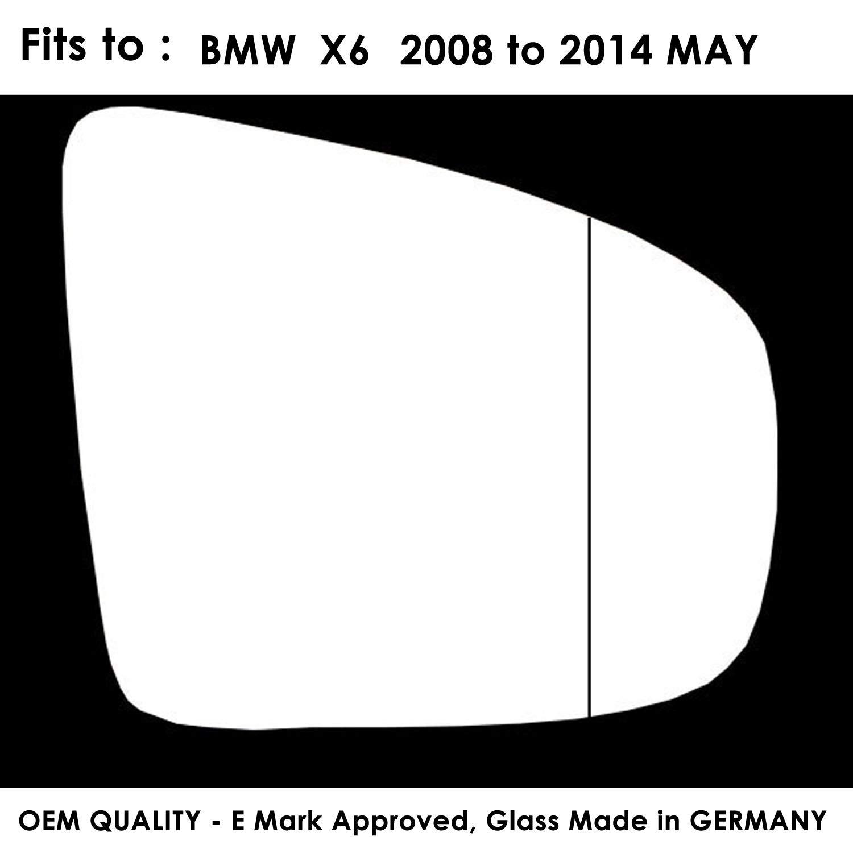 TWMC-XS 2008 to 2014 Door Wing Mirror Glass RH Driver Side