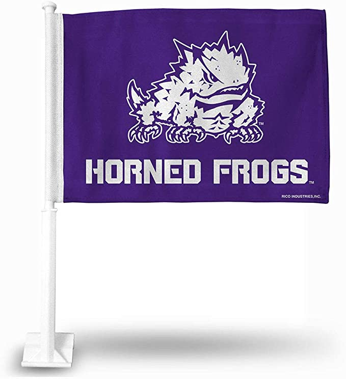 BSI NCAA College TCU Horned Frogs 3 X 5 Foot Flag with Grommets