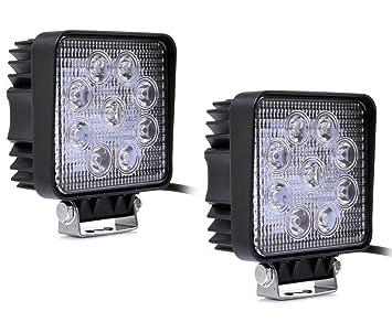 Super Brillo 2 X Proyector LED 27W 9-30V Luz de Respaldo Luz ...