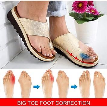 Orthopädischer Fuß Daumen Damen Sandalen Bequeme Plattform