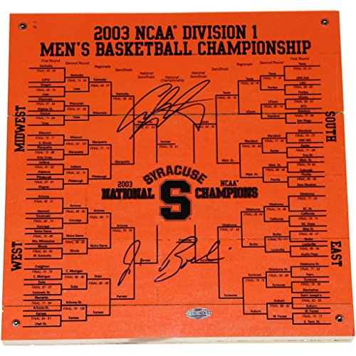 Jim Boeheim/Carmelo Anthony Dual Signed Syracuse Basketball Engraved 12x12 - Syracuse Outlets