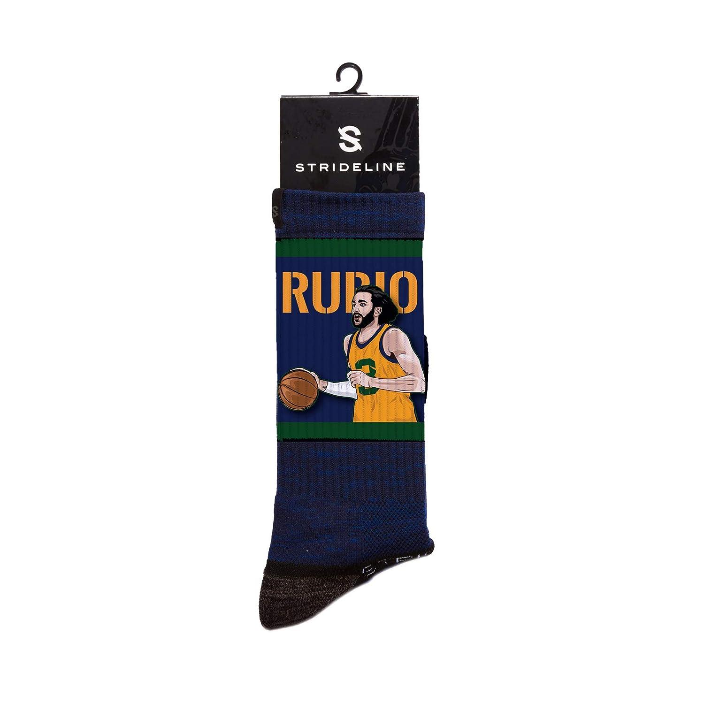 Ricky Rubio NBA Utah Jazz Strideline Player Crew Socks Ricky Rubio