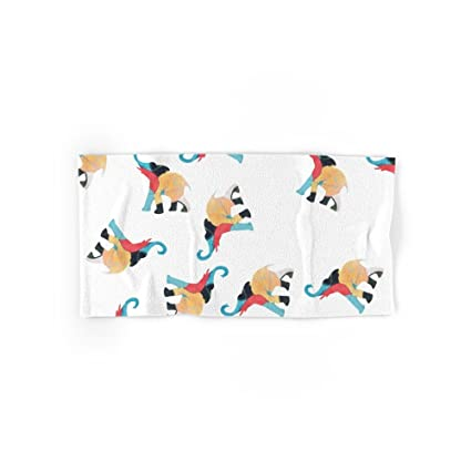 Society6 elefantes 3 mano y toalla de baño, multicolor, Set of 4 (2