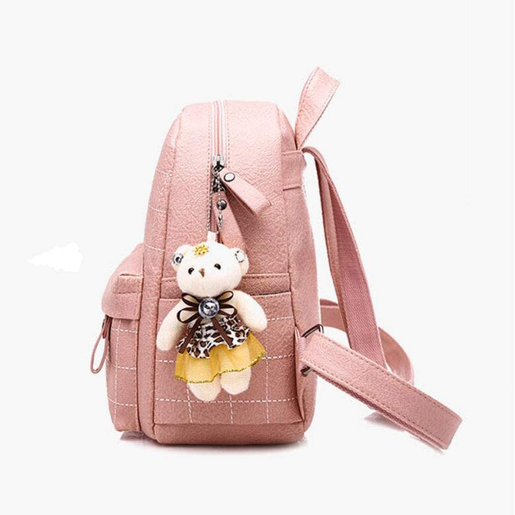 KJVHJN Womens Fashion Cute Backpack College Travel Outdoor Backpack College School Bag Color : Pink, Size : One Size