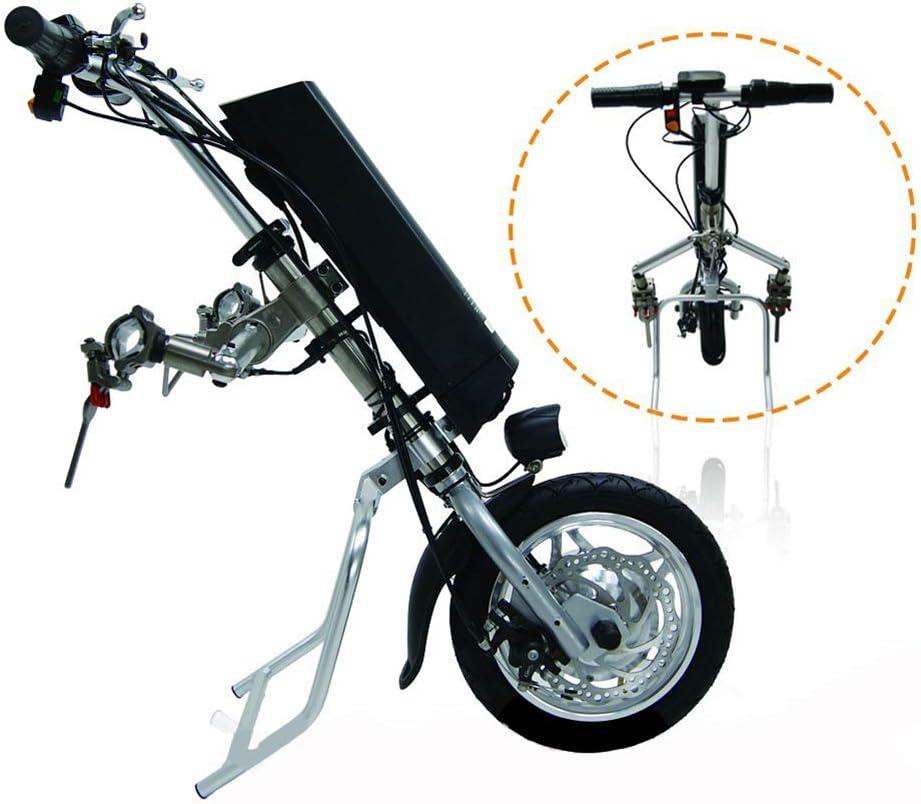 GMtes Silla de Ruedas eléctrica del Tractor Triciclo Handbike Bricolaje eléctricos de la conversión de Ruedas Kits de activación del Cabezal para Personas de Movilidad Reducida Coche,8Ah