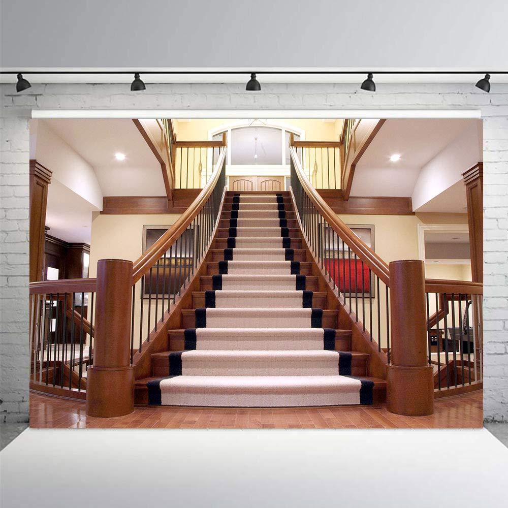 Amazon.com: 7 x 5 pies escaleras fondos interiores de lujo ...