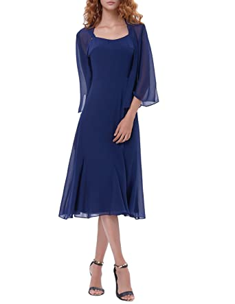 Kate Kasin Womens Evening Dress Mother Of Bride With Jacket Navy Blue KK1059 1