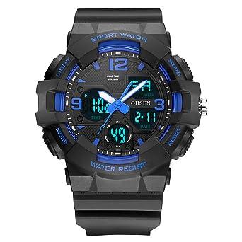 HWCOO AD1711 Nuevo Reloj Deportivo de Silicona Multifuncional de ...